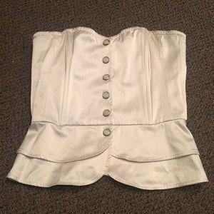 Silk Button Up Corset